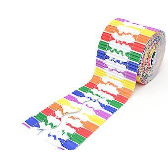 Crayons Design 7m Corrugated Card Bordette Classroom Border Roll