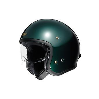 Shoei J.O. Brittisk Motorcykel Hjälm Grön