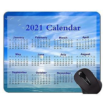 (260x210x3) Kalendář podložka pod myš 2021 se šitou hranou, tajemná nebeská protiskluzová gumová základna