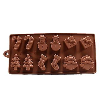 4PCS Silicone cake mould Christmas tree Snowman socks Chocolate Mold ice mould pudding mould jelly