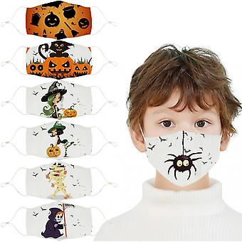 7pcs Face_mask,reusable Washable And Adjustable Cotton Fabric With Cute Cartoon Printed Design