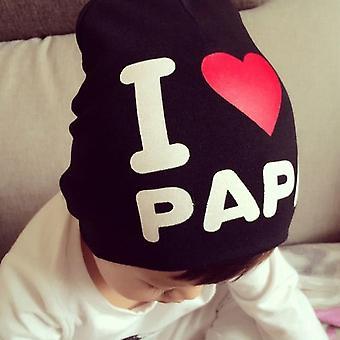 Mignon j'aime Papa Tout-petits Enfants Bébé Garçon Fille Bébé Doux Bonnet Chapeau