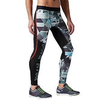 Reebok One Series Elite Compression B85160 universal calças masculinas do ano todo