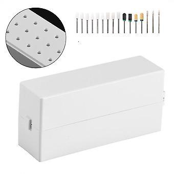 Nail art kits accessoires 30 gaten nail art boor slijpen hoofd bit houder display opbergdoos