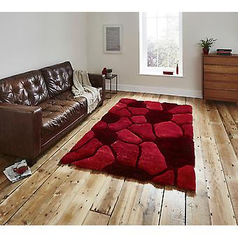 Noble House Pebbles 5858 Red  Rectangle Rugs Plain/Nearly Plain Rugs