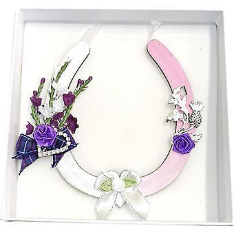 Hanging Wedding Horseshoe Pink by Sweet Pea Designs