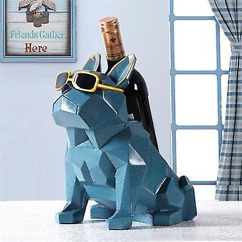 Moderne eenvoud Franse Bulldog wijnrek wijnhouder decoraties home houder creatief huis