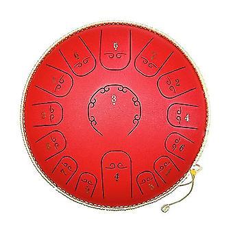 14 pouces 15 tons en acier au carbone tongue drum mini hand pan drums avec pilons percussion musical