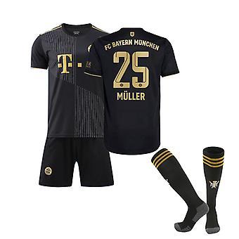 Thomas Muller Jersey 2021-2022 Bayern München New Season No. 25 Jersey (voksen størrelse)