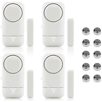 Door And Window Alarm Store Anti-theft Device, Suitable For Family, Dormitory, Hotel (4 Pieces)