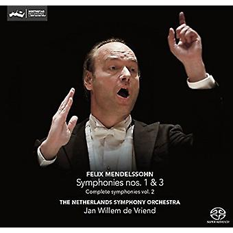 Mendelssohn / Vriend / Netherlands Sym Orch - Syms 1 & 3 [SACD] USA import