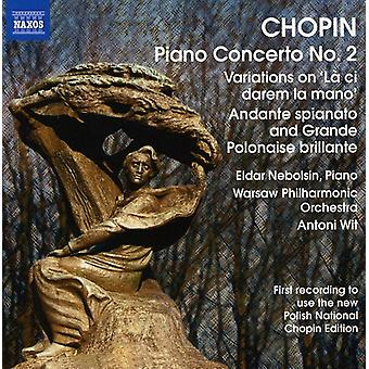 F. Chopin - Chopin: Piano Concerto No. 2; Variations on L  Ci Darem La Mano [CD] USA import