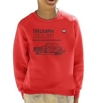 Haynes Workshop Manual 0086 Triumph 1300 1500 Black Kid's Sweatshirt