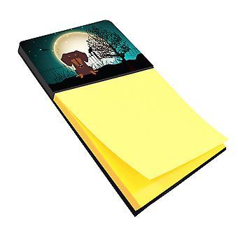 Halloween Scary Dachshund Chocolate Sticky Note Holder