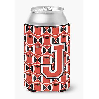 Bokstaven J fotball rød og grå kan eller flaske Hugger