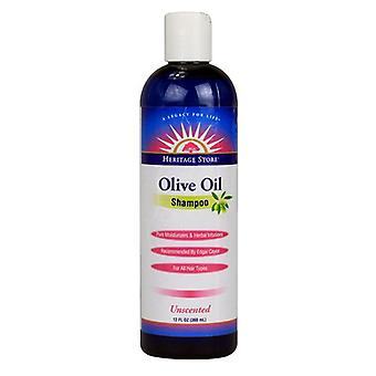Heritage store Olive Oil Shampoo, Unscented 12 oz