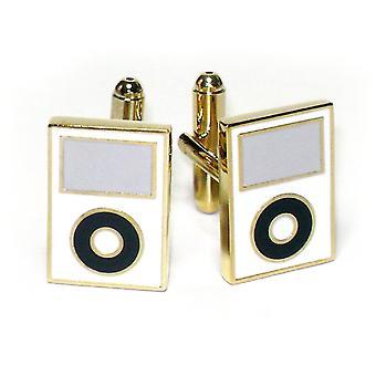 Gold-Tone Men's Cuff Links MP3 Player Cufflinks