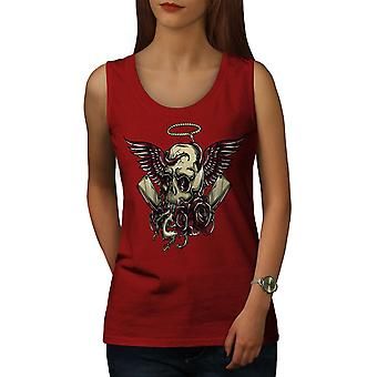 Head Face Death Skull Women RedTank Top | Wellcoda