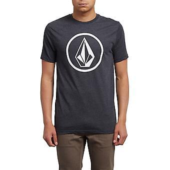 Volcom Circle Stone Short Sleeve T-Shirt in Heather Black