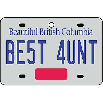 BRITISH COLUMBIA - Best Aunt License Plate Car Air Freshener