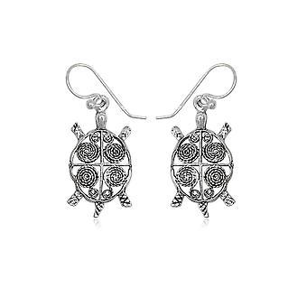 Pendantes sköldpadda i Silver 925 örhängen