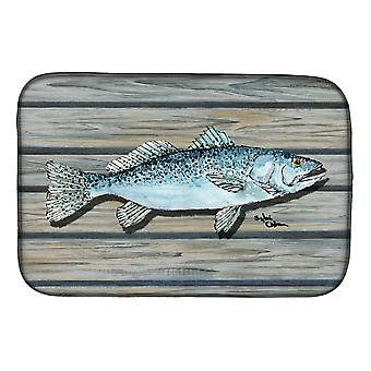 Carolines Treasures  8494DDM Fish Speckled Trout Dish Drying Mat