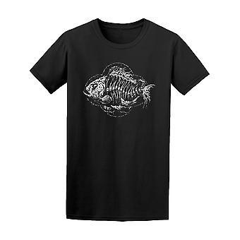 Kuolleet kalat luuranko Tee Men-kuva: Shutterstock