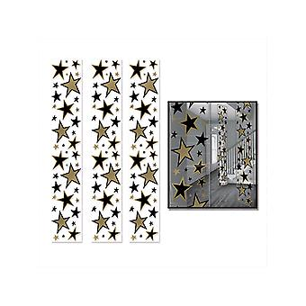 Star Party Panel Decorations - Black and Gold