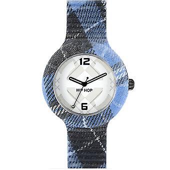 Hip Hop clock silicone Tartan large HWU0378 Dundee blue