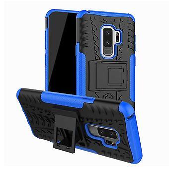 Morceau de cas 2 hybride bleue extérieure SWL pour couvercle de sac Samsung Galaxy S9 G960F