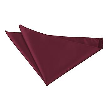 Burgundy Solid Check Pocket Square