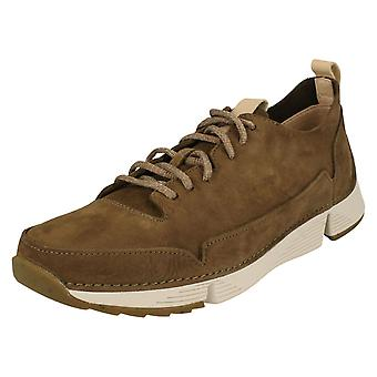 Mens Clarks Casual Lace Up schoenen Tri vonk
