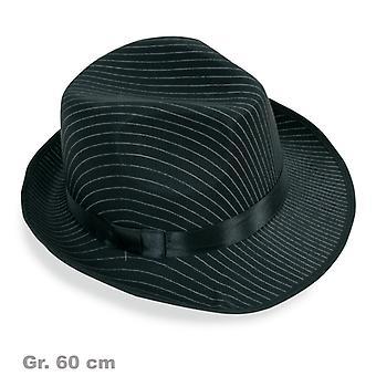 Klobúk Pinstripe Mafia gangster Pánske klobúk