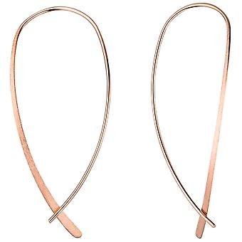 Take out earrings 925 Silver gold plated rose gold earrings to pull through
