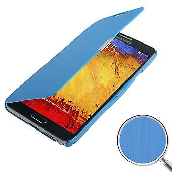 Etui de téléphone portable pour Samsung Galaxy touch 3 N9000 bleu brossé