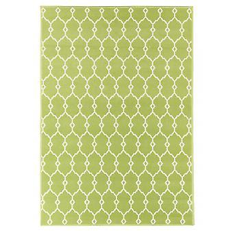 Outdoor-Teppich für Terrasse / Balkon grün Vitaminic Trellis Green 133 / 190 cm Teppich Indoor / Outdoor - für drinnen und draussen