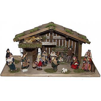 Crib Nativity Christmas Nativity stable DANIEL wood crib small