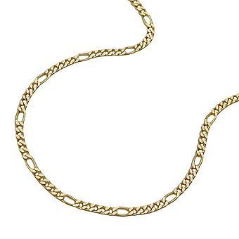 Chaîne 1, 6 mm 9Kt or Figaro chaîne 45 cm