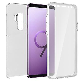 Silicone case + back cover in polycarbonate for Galaxy S9 Plus - Ultra Clear