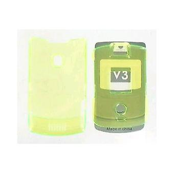 Snap On Case for Motorola RAZR V3 V3c - Yellow (No Belt clip)