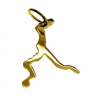 Släpvagn karta hängsmycken i guld gul-guld i form av Comosjön
