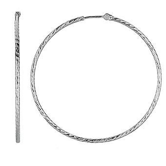 Стерлингового серебра родием серьги круглые кольца