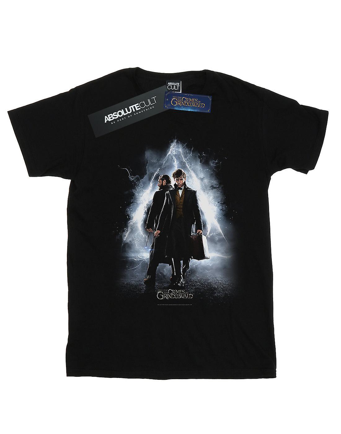 Fantastic Beasts Women's Newt And Dumbledore Poster Boyfriend Fit T-Shirt