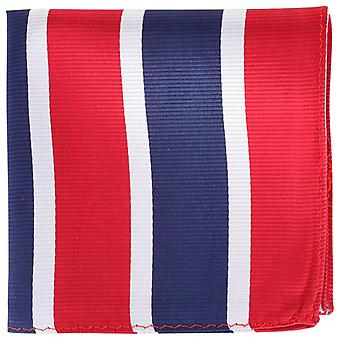 Knightsbridge Neckwear полосатые квадратных карман шелка - красный/серебро/флот