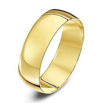 Star Wedding Rings 9ct Yellow Gold Light D Shape 6mm Wedding Ring