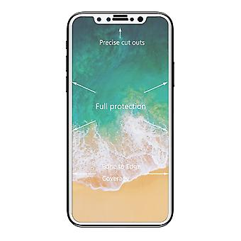 iPhone X tempered glass Curved solid white 0.26 mm