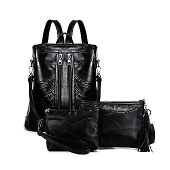 Backpack, shoulder bag and cosmetic bag, genuine Lambskin 1040
