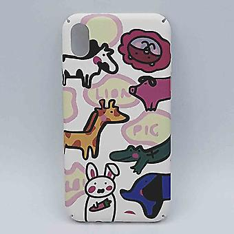 iPhone XR - hoesje - funny animals on white