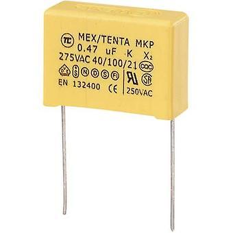 TRU COMPONENTS MKP-X2 1 pc(s) Condensateur de suppression MKP-X2 Plomb radial 0,47 μF 275 V AC 10 % 22,5 mm (L x W x H) 26,5 x 10 x 19 mm