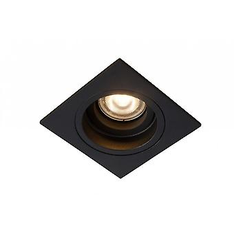 Lucide Embed Modern Square Metal Black Recessed Spot Light